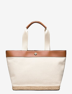 Canvas Medium Tote - casual shoppers - natural