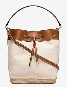 Canvas Debby Drawstring Bag - bucket-vesker - natural