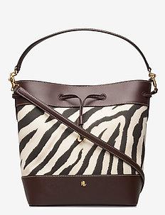 PRINTED CANVAS-DEBBY-DRW-MED - bucket bags - zebra