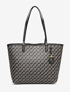 Medium Collins Tote - fashion shoppers - black heritage lo