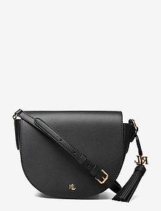 Leather Medium Crossbody - axelremsväskor - black