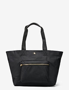 Nylon Medium Canton Tote - shoppere - black