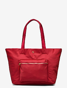 Nylon Medium Canton Tote - shoppers - rl 2000 red
