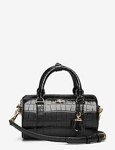 Leather Small Satchel - handväskor - black