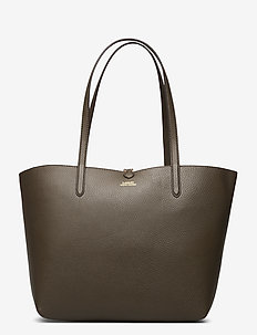 Faux-Leather Reversible Tote - D OLIVE/D OLIVEMI