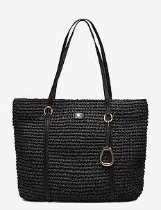 Crochet Debby Drawstring Bag - BLACK