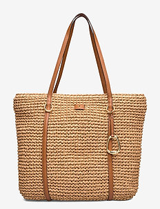 Crochet Debby Drawstring Bag - fashion shoppers - natural
