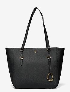 Leather Medium Shopper - cabas - black