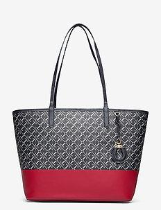 COATED CANVAS - DIP-COLLINS 32-TTE- - fashion shoppers - lauren navy logo/