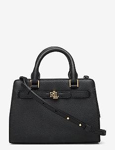 Leather Fenwick Crossbody Bag - black