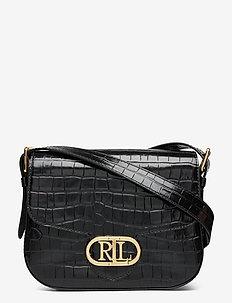 Embossed Leather Medium Addie Crossbody - skuldertasker - black