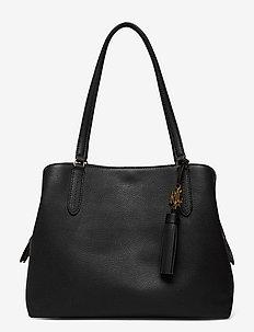Leather Large Quinn Shoulder Bag - cabas - black