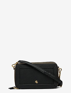 Crosshatch Leather Danna Crossbody - crossbody bags - black
