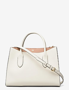 CROSSHATCH LEATHER-EMERY 31-STL-MED - top handle tasker - vanilla/nude