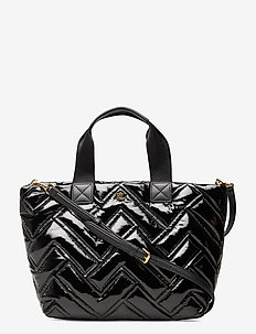 Quilted Nylon Medium Canton Tote - skuldertasker - black