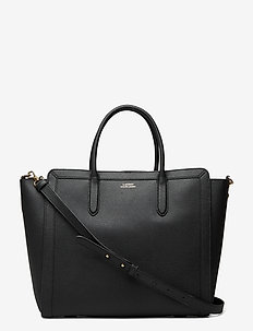 Leather Medium Tyler Tote - shoppere - black