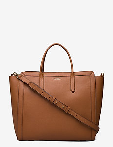 Leather Medium Tyler Tote - shoppere - lauren tan