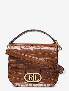 Metallic Leather Small Addie Crossbody - crossbody bags - deep saddle tan