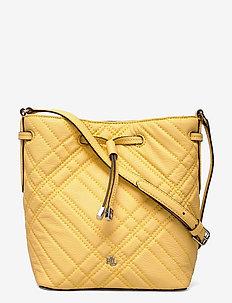 Plaid Quilted Mini Debby II Bag - bucket bags - beach yellow
