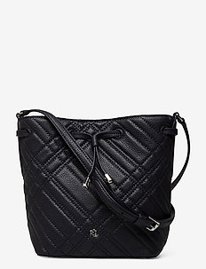 Plaid Quilted Mini Debby II Bag - bucket-laukut - lauren navy