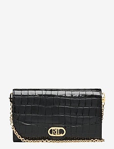 Embossed Leather Adair Small Crossbody - skuldertasker - black
