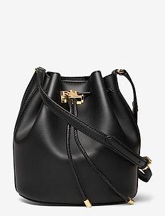 Leather Medium Andie Drawstring Bag - bucket-laukut - black