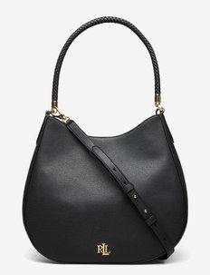 Pebbled Leather Charli Shoulder Bag - shoulder bags - black