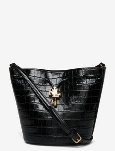 Embossed Medium Andie Drawstring Bag - olkalaukut - black