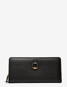 Compact Leather Wallet - BLACK