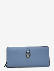 Compact Leather Wallet - BLUE MIST