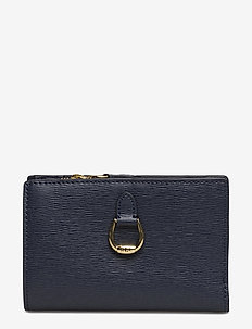 Compact Leather Wallet - NAVY