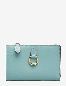 Compact Leather Wallet - SEAFOAM