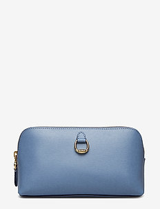 Saffiano Leather Cosmetic Case - BLUE MIST