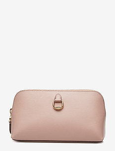 Saffiano Leather Cosmetic Case - MELLOW PINK