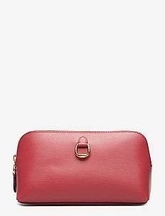 Saffiano Leather Cosmetic Case - RASPBERRY GELATO