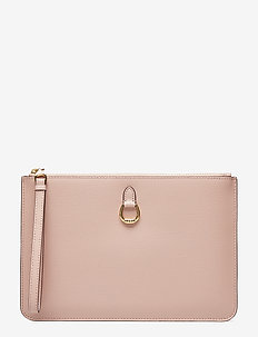 Saffiano Leather Wristlet - MELLOW PINK