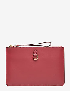 Saffiano Leather Wristlet - RASPBERRY GELATO