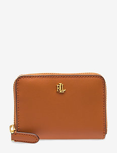 Leather Zip Wallet - beurzen - lauren tan/monarc