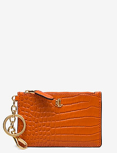 Leather Medium Zip Wallet - SAILING ORANGE