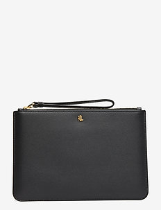 Leather Wristlet - BLACK/PORCINI