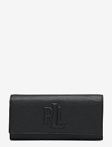 Pebbled Leather Medium Wallet - lommebøker - black