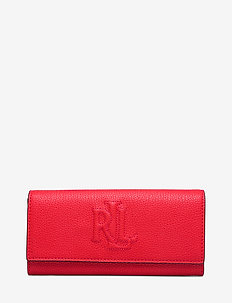 Pebbled Leather Medium Wallet - lommebøker - sporting red