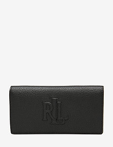 Slim Pebbled Leather Wallet - BLACK
