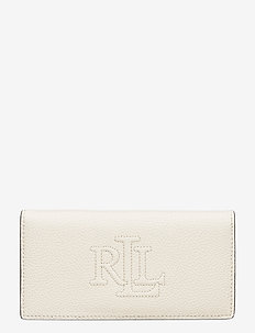 Slim Pebbled Leather Wallet - VANILLA