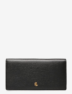 Saffiano Slim Leather Wallet - BLACK