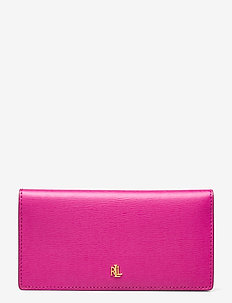 Saffiano Slim Leather Wallet - lommebøker - deep fuchsia