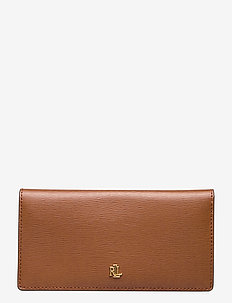 Saffiano Slim Leather Wallet - lommebøker - lauren tan