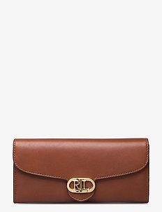 Vegan Leather Continental Wallet - porte-monnaies - lauren tan