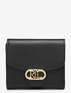 Vegan Leather Compact Wallet - punge - black