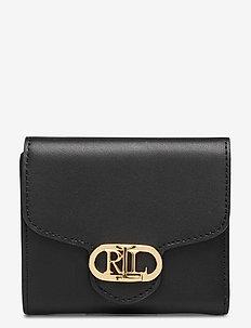 Vegan Leather Compact Wallet - porte-monnaies - black